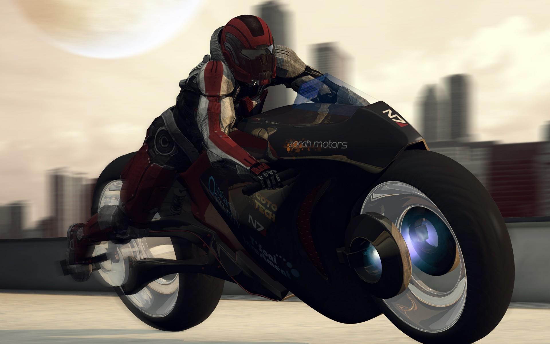 Фото парень на мотоцикле