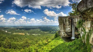 Фото бесплатно обрыв, скалы, водопад