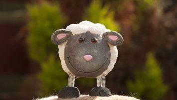 Фото бесплатно овечка, игрушка, мягкая