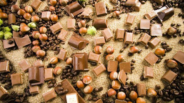 Фото бесплатно шоколад, кусочки, плитка