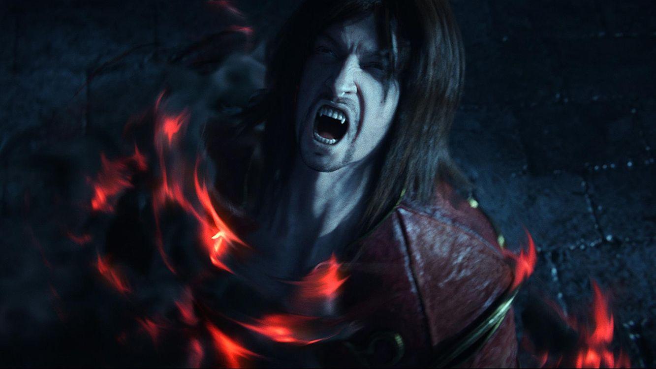 Фото бесплатно вампир, зубы, клыки, огонь, боль, фэнтези, разное, рендеринг, рендеринг