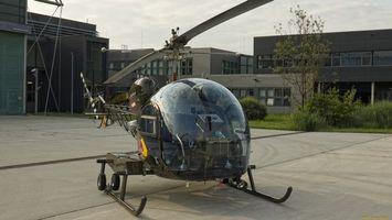 Бесплатные фото вертолет, кабина стекло, прозрачное, пропеллер, дома, строения, авиация