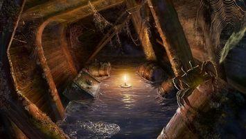 Бесплатные фото вода,волны,свеча,огонь,свет,подвал,ящики