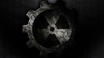 Бесплатные фото знак,радиация,шестеренка,темный,фон,разное