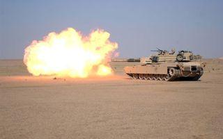 Photo free tank, Iraq, desert