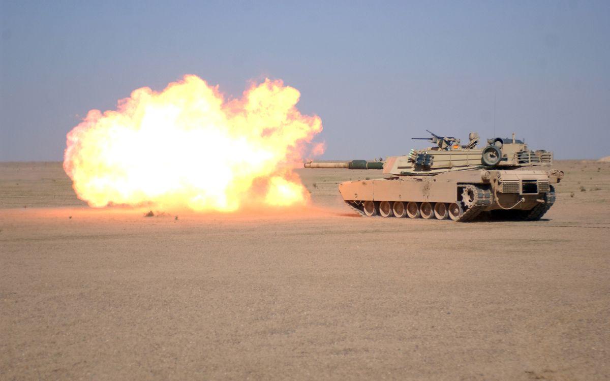 Фото бесплатно танк, ирак, пустыня - на рабочий стол