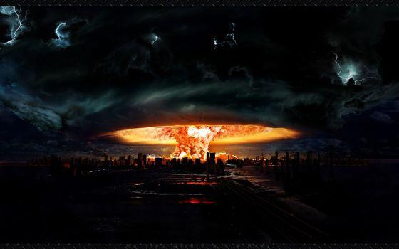 Бесплатные фото гриб,город. пламя,рисунок,ядерный,арт,взрыв