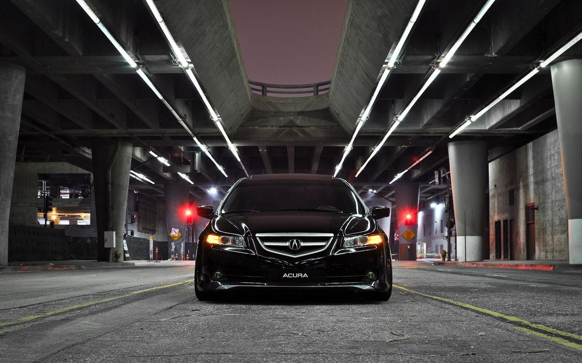 Фото бесплатно акура, черная, фары, решетка, зеркала, тонировка, машины, машины