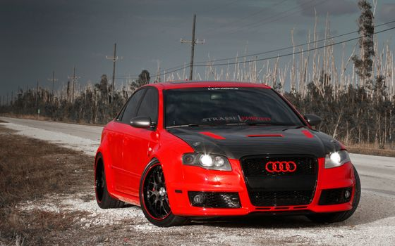 Photo free audi, red, black