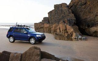 Заставки автомобиль,камни,берег,песок,море,океан,шины