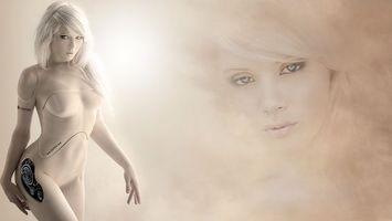 Бесплатные фото блондинка, робот, механическая, фигура, лицо, пластик, девушки
