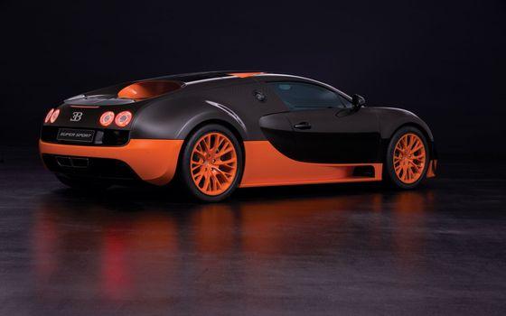 Фото бесплатно bugatti, veyron, супер