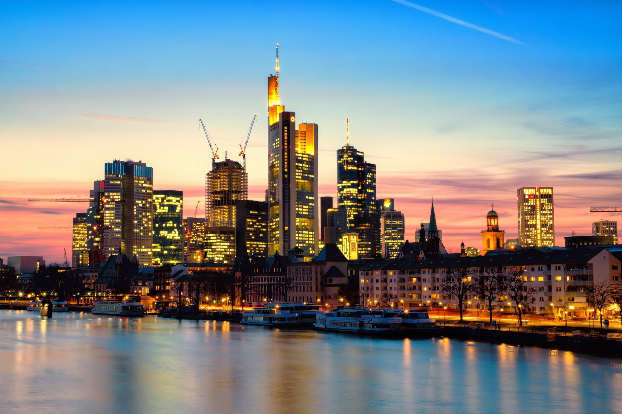 страны архитектура Франкфурт-на-Майне Германия  № 1467995 без смс