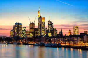 Бесплатные фото франкфурт-на-майне,deutschland,frankfurt am main,вечер,закат,солнца,небо