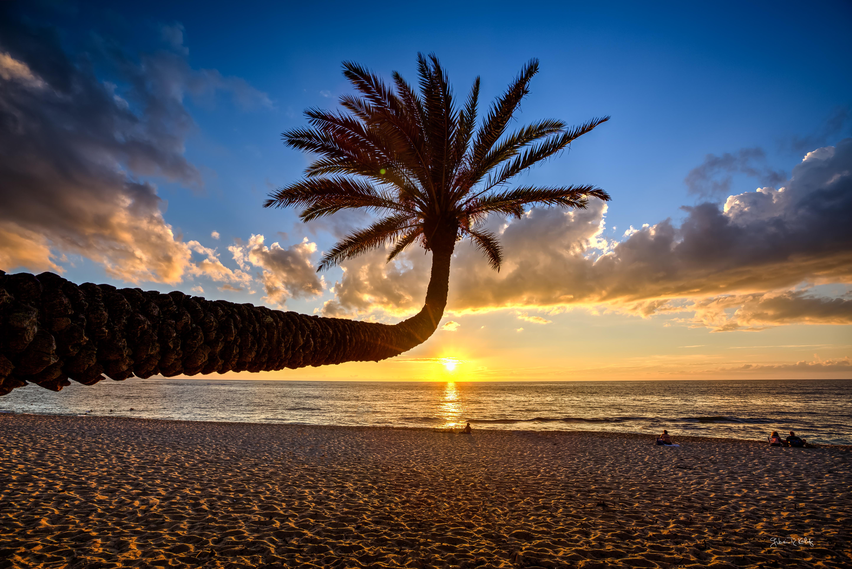 Гавайи, море, закат