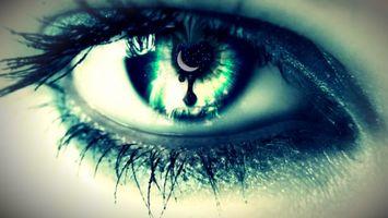 Photo free eye, eyelashes, pupil