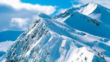 Бесплатные фото горы,снег,мороз,холод,небо,облака,зима