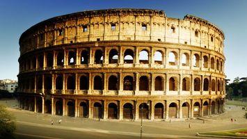 Заставки колизей, амфитеатр, арена, рим, дорога, люди, стиль