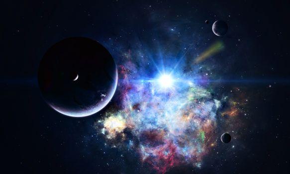 Фото бесплатно космос, вселенная, планеты, звезлы, созвездия, свечение, невесомость, вакуум, галактика, art