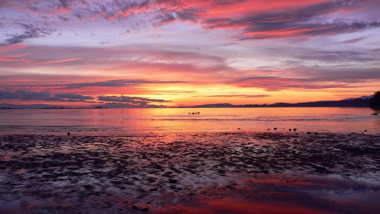 Фото бесплатно море, вода, ярко, закат, восход, облака, природа, природа