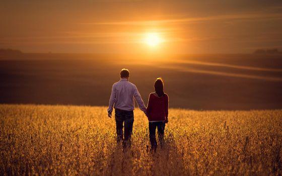 Фото бесплатно мужчина, женщина, поле