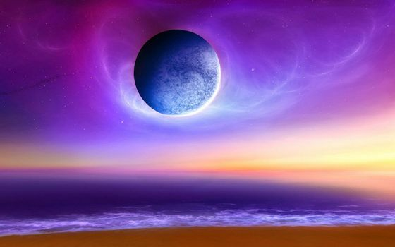 Photo free planet, stars, sea