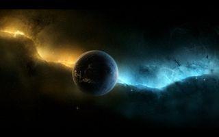 Фото бесплатно планета, туманность, звезды