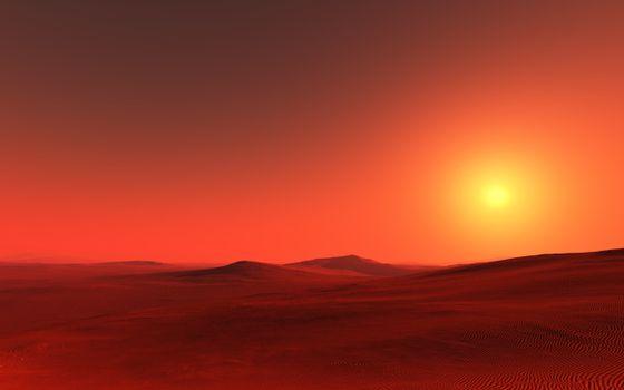 Photo free desert, sand, barkhans