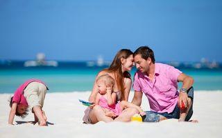 Бесплатные фото семья,дети,ребенок,сын,дочка,небо,голубое
