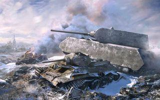 Бесплатные фото world of tanks, wot, танки, онлайн, поле, боя, маус