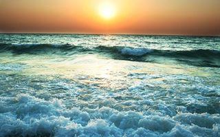 Бесплатные фото закат, солнце, океан, волны, берег, горизонт, пейзажи