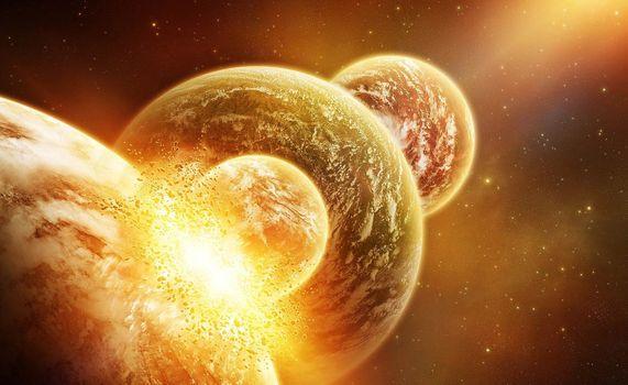 Фото бесплатно Космос, галактика, взрыв