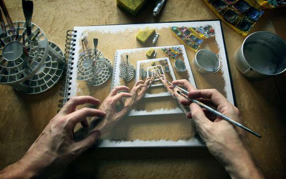 Фото бесплатно арт, кисть, погружение