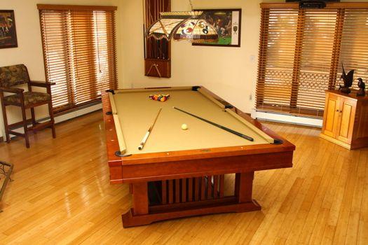 Photo free billiards, table, cue