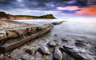 Бесплатные фото берег, море, камни, галька, гора, маяк, пейзажи