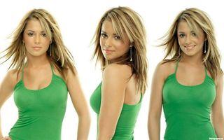 Фото бесплатно девушка, блондинка, карие