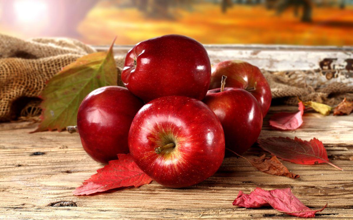 Фото бесплатно фрукты, яблоки, листья - на рабочий стол