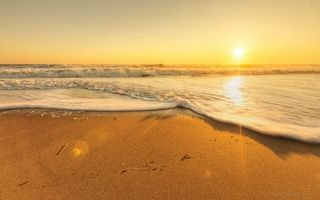 Фото бесплатно солнце, облака, пляж