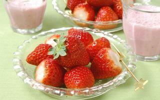 Фото бесплатно тарелка, клубника, еда