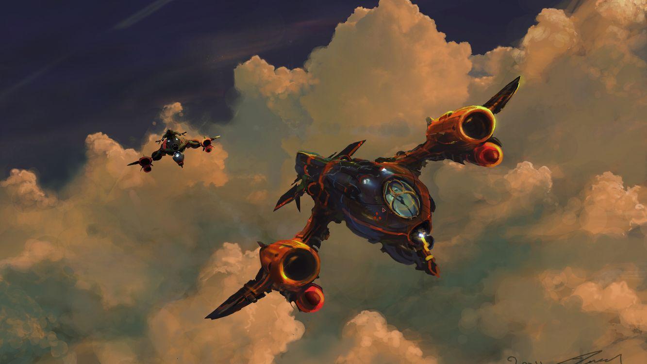 Фото бесплатно корабли, космические, небо - на рабочий стол