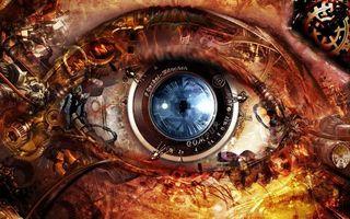 Фото бесплатно лицо, глаз, механический
