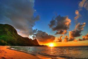 Бесплатные фото море, пляж, вечер, закат, пейзажи