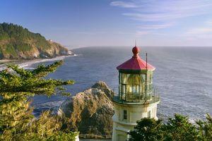 Заставки море,скалы,маяк,пейзаж