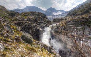 Бесплатные фото небо, облака, горы, скалы, водопад, вода, капли