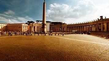 Бесплатные фото плитка, площадь, здания, дома, люди, небо, облака