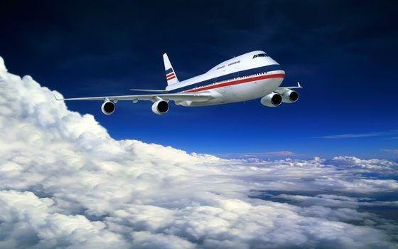 Фото бесплатно самолет, пассажирский, боинг