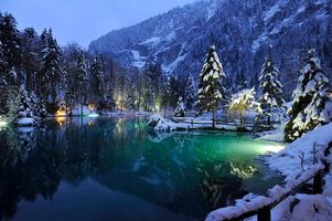 Photo free The Blue Lake, Blausee, Switzerland