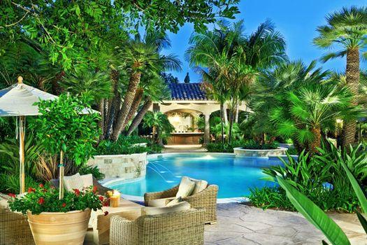 Фото бесплатно тропики, курорт, бассейн