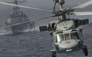 Бесплатные фото вертолет, кабина, винты, шасси, полет, море, корабль