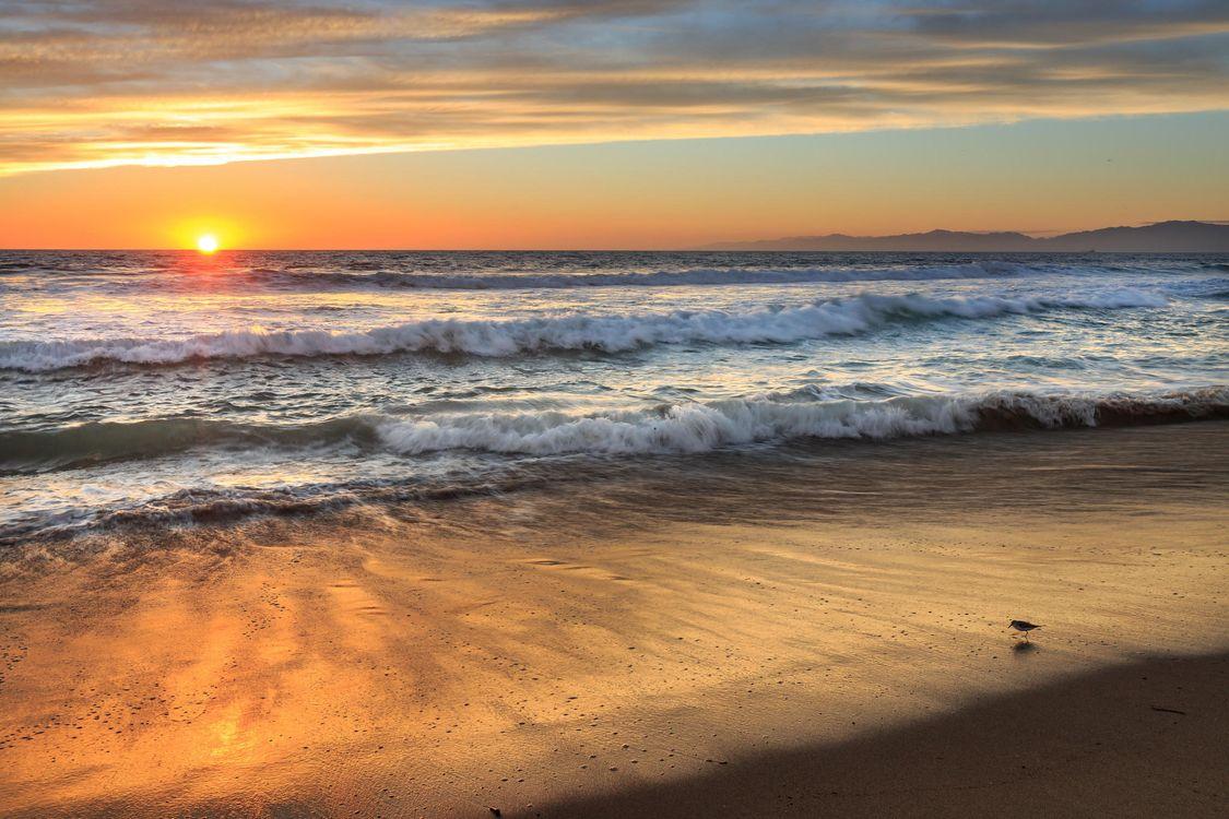 Фото бесплатно побережье, пляж, закат - на рабочий стол